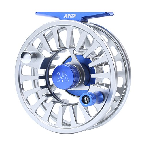 Maxcatch Avid Fly Fishing Reel with CNC-machined Aluminum Alloy Body 3/4,5/6, 7/8wt (Silver,Black,Blue,Green)