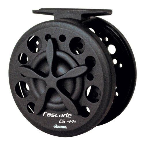Okuma CS-4/6 Cascade Fly Reel with 20-Pound, 125-Yard Line Capacity, 9-Foot Line Retrieve, Black Finish