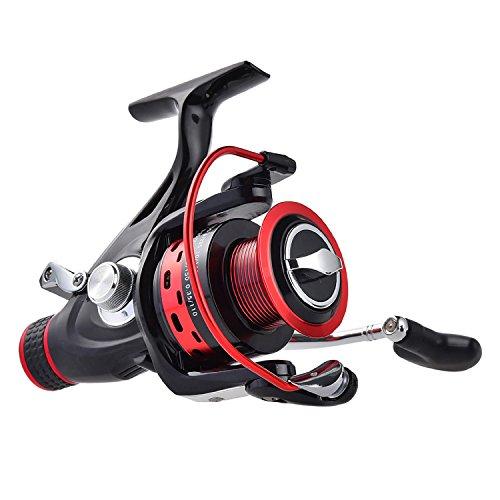 KastKing Sharky Baitfeeder Spinning Fishing Reel - 2 Spools - Carbon Fiber Drag - 33 LB Max Drag - 10+1 BBs - Best Front Drag and Rear Drag Spinning Reels for Carp, Catfish