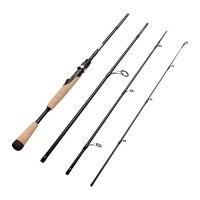 Fiblink 4 Pieces Travel Spinning Rod Medium Graphite Spinning Fishing Rod Portable Fishing Rod
