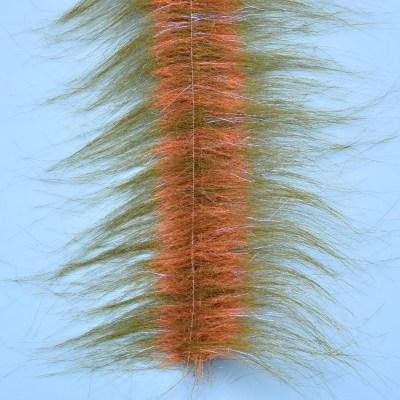 Enrico Puglisi Craftfur Brush 3 Wide Medium Olive FL Orange