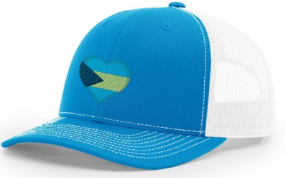 Bahamas Hat Blue and White