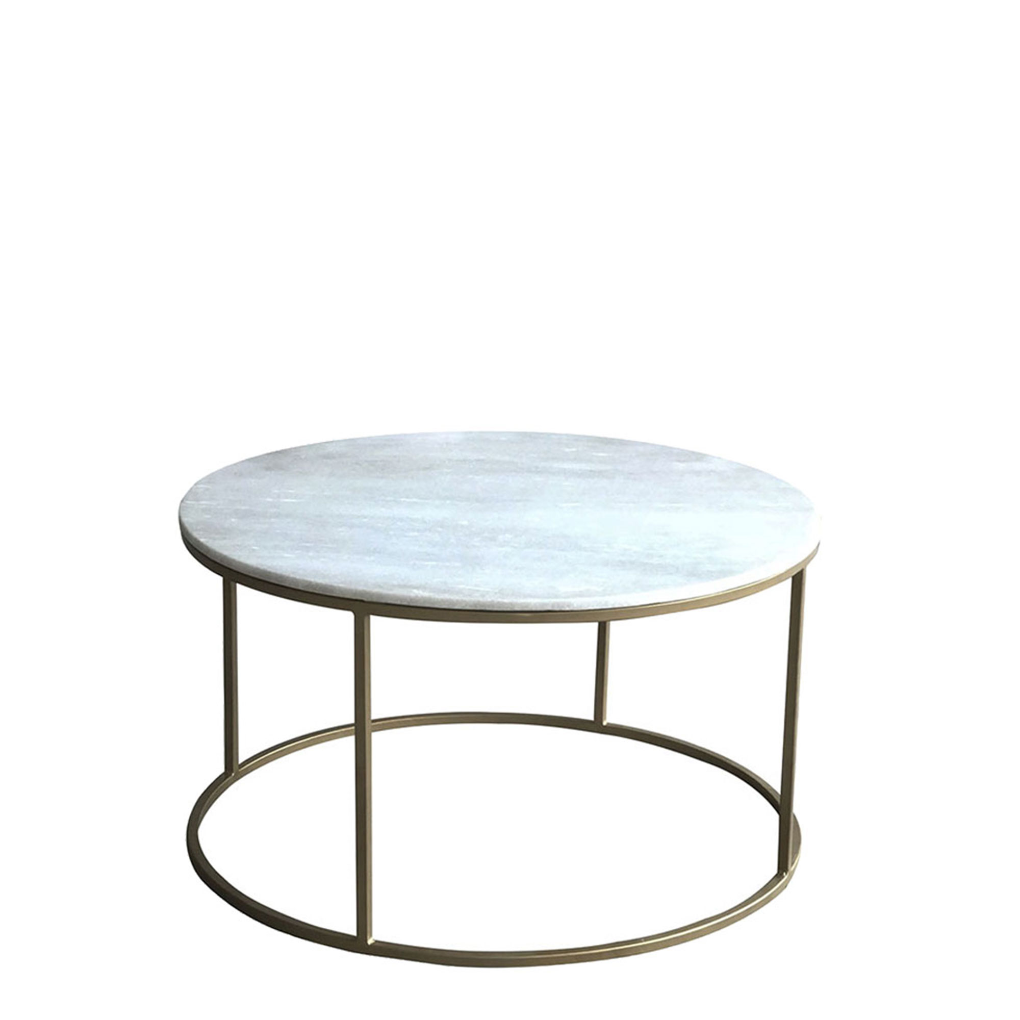 surat brass and marble circular coffee table