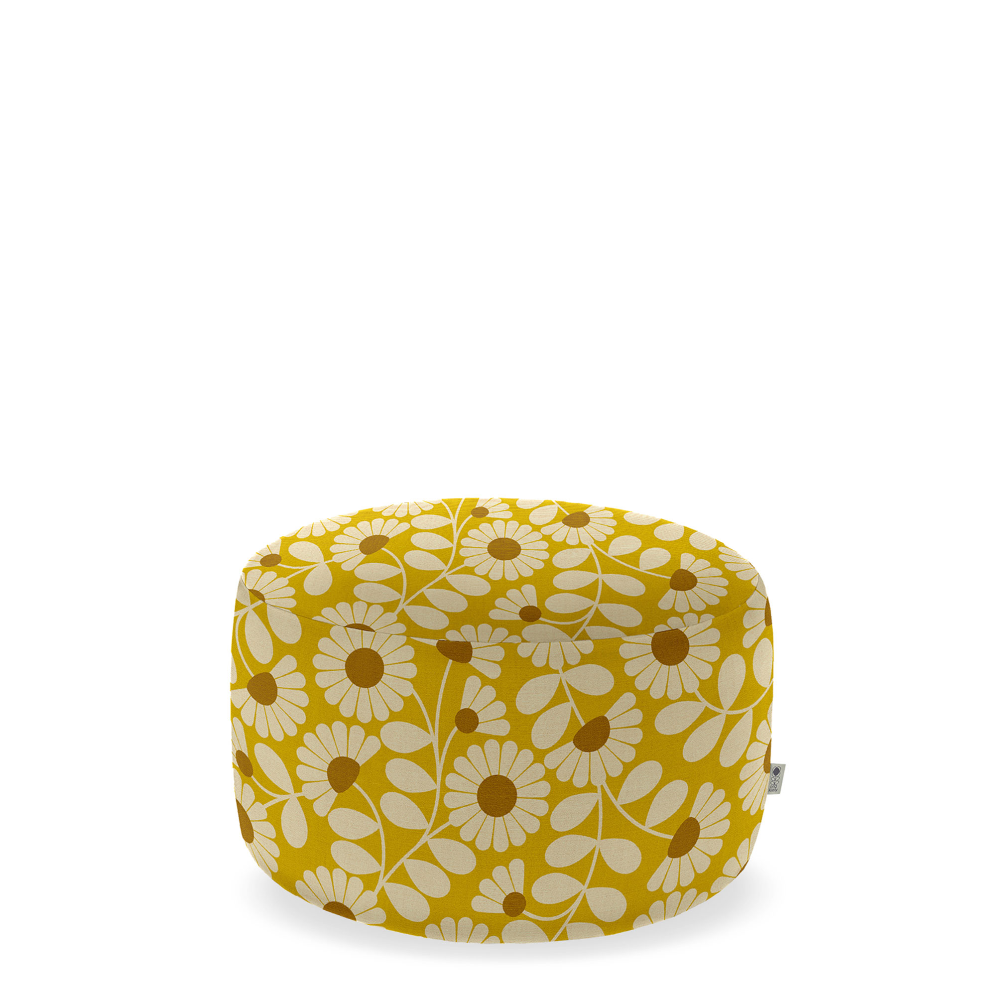 orla kiely conway large footstool in fabric