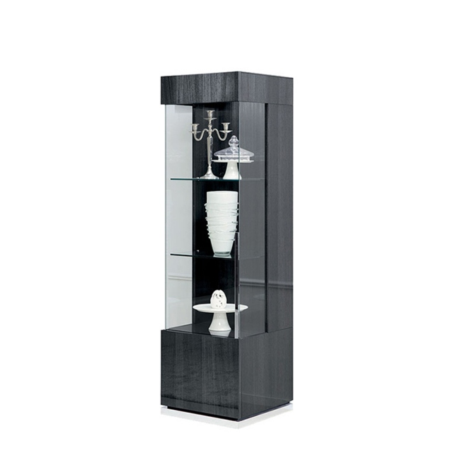 antibes 1 door lh curio cabinet with led lights
