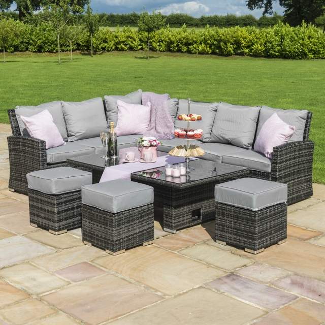 rattan garden chairs and table fabric recliner chair mauritius grey corner dining set rising fishpools mauritiuscorner with