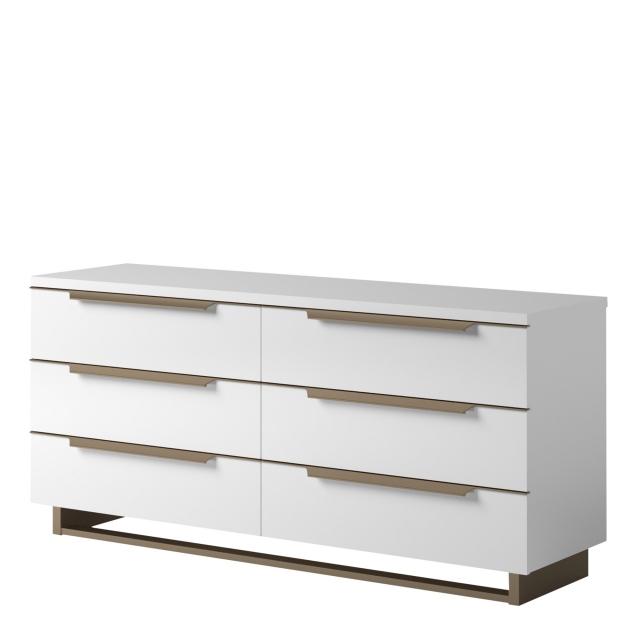 sahara double dresser in white gloss finish