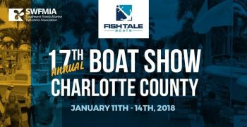 Fish Tale Boats at the 2018 Charlotte County Boat Show
