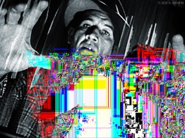 4.25 Hugh Manon, glitch noir series.