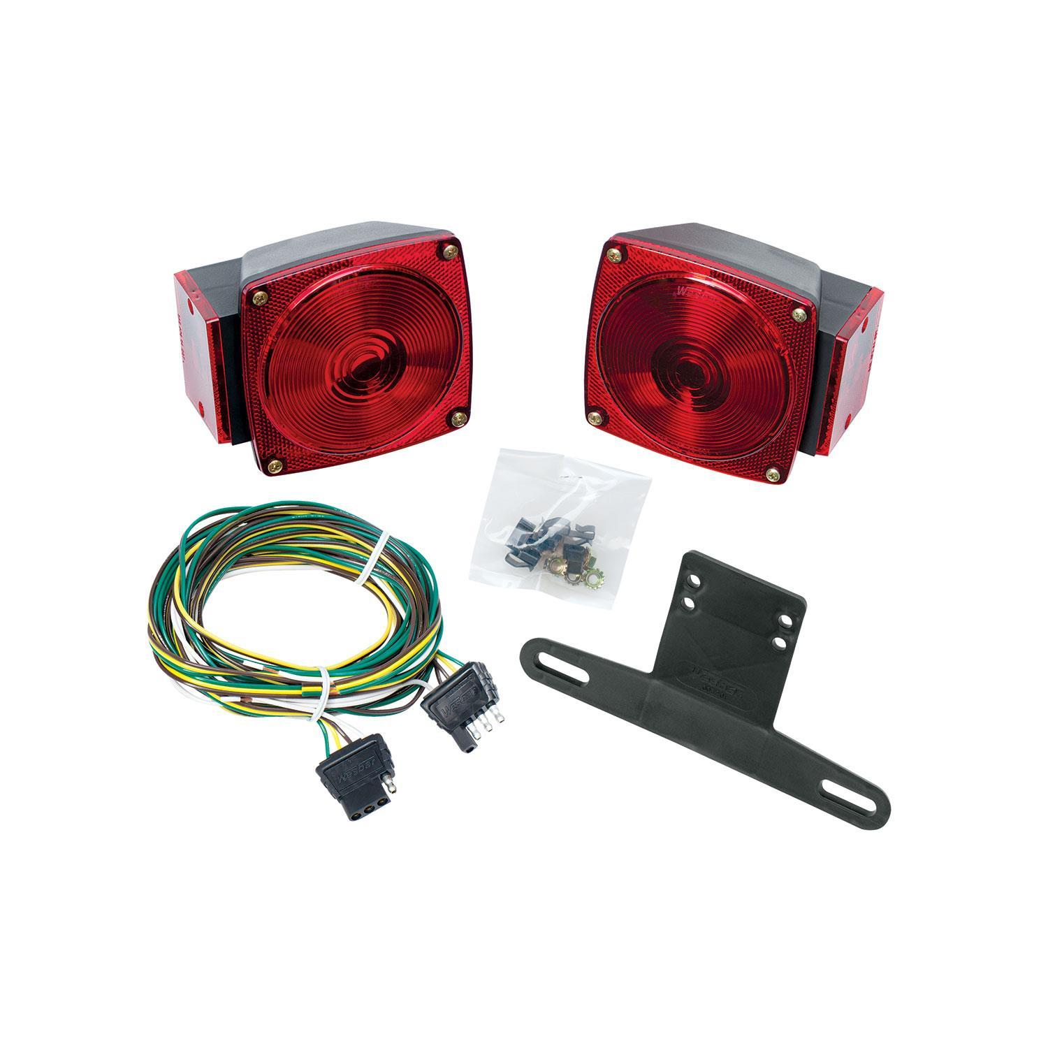 Wesbar Led Waterproof Trailer Light Kit With 25 Ft Wiring Harness