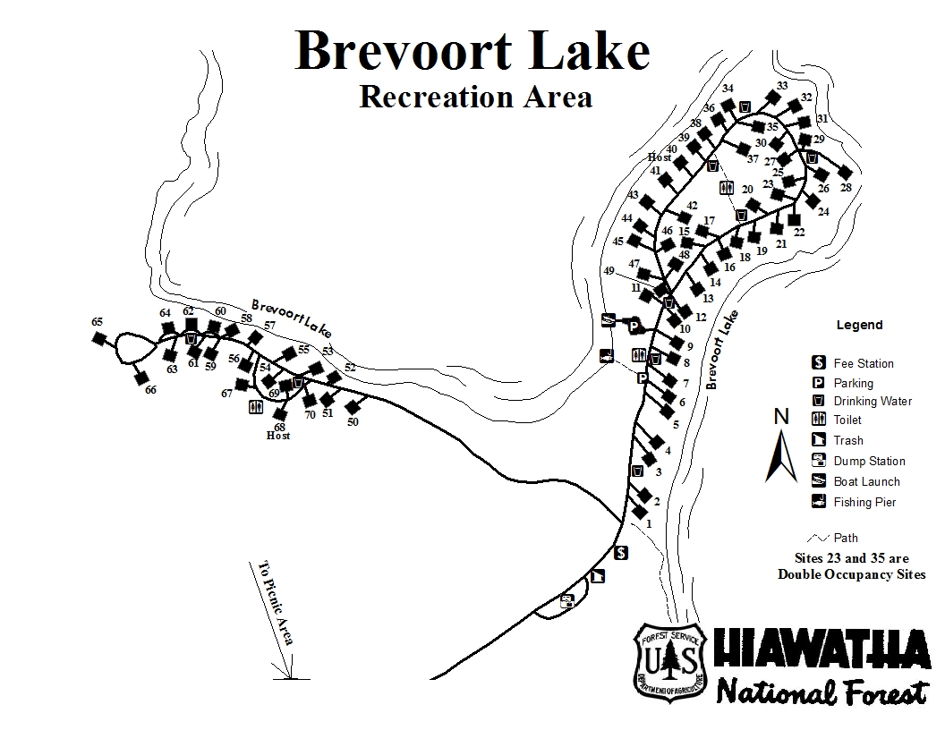 Brevort Lake Campground Mackinac County Michigan Interactive™