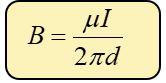 Fórmula para un conductor recto