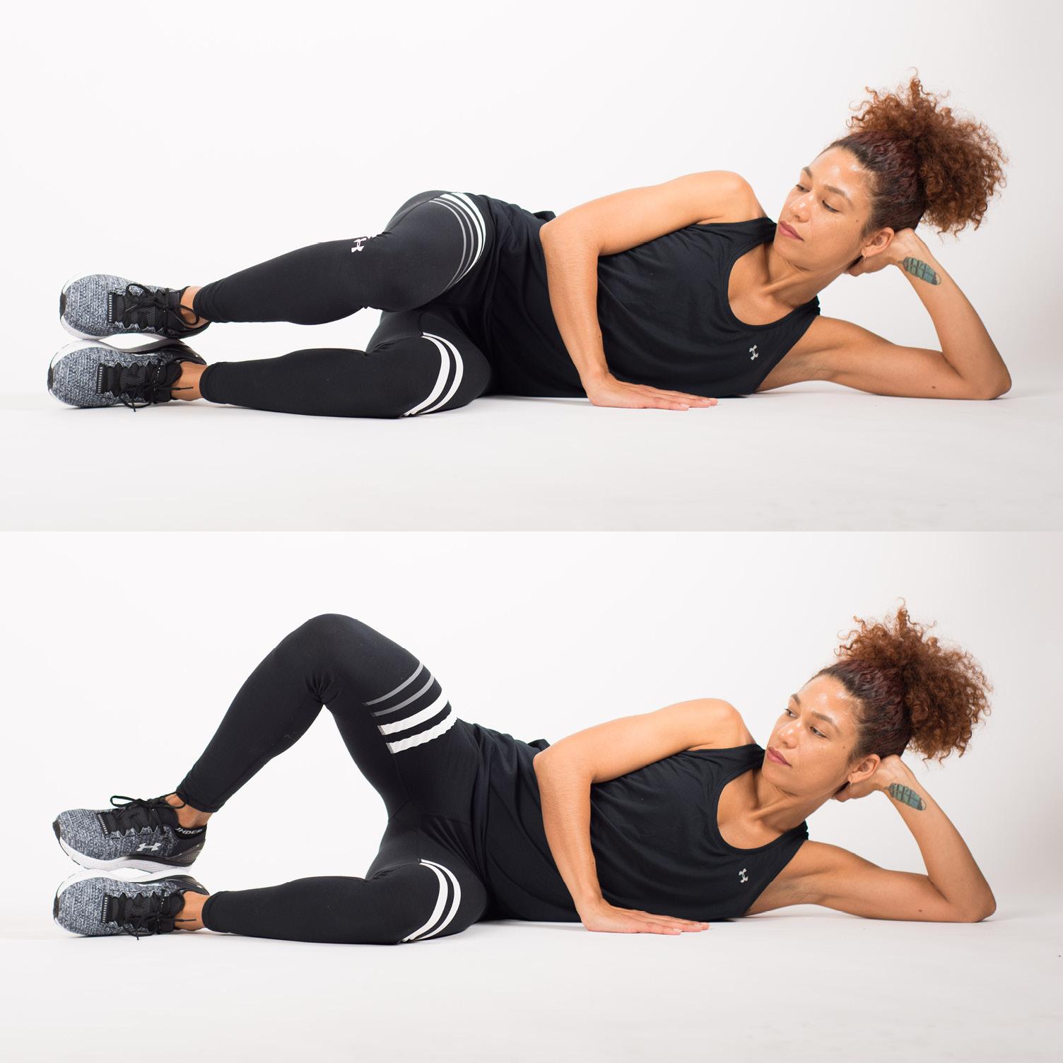 """Attività dei muscoli abduttori di anca durante variazioni nell'esecuzione della """"conchiglia"""""""