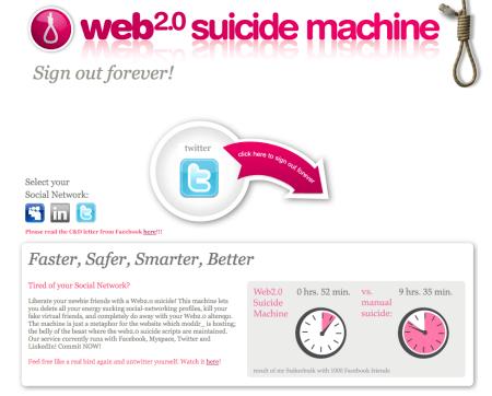 suicide machine para redes sociales - fisiomuro