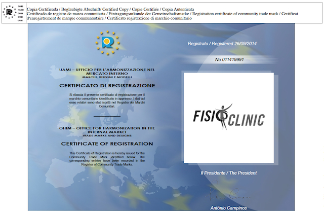 Fisioclinic ® Marchio registrato Trademark