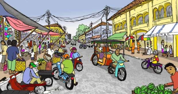 Wandering Angkor Siem Reap Old Market Fissos World