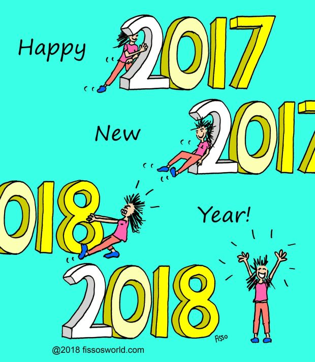 Happy New Year Cartoon Fissos World
