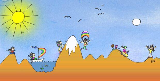 Fissos World it's all a Journey cartoon