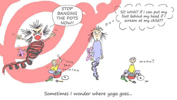 OM my Yoga Cartoon Story Fissos World On Yoga Journey 27