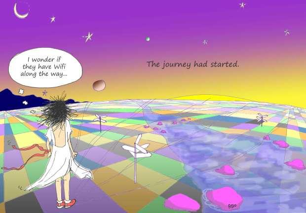 OM my Yoga Cartoon Story Fissos World On Yoga Journey 1