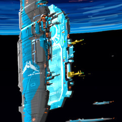 Homeworld Concept Art - Rob Cunningham - Pride of Hiigara Mothership