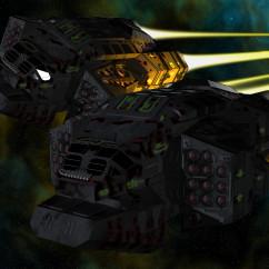 Homeworld Fan Art - FG Durianov - Turanic Raiders Brigand Missile Corvette