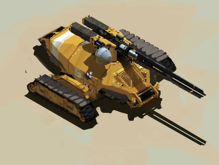 Desert Artillery - Deserts of Kharak - Concept Art - BBI