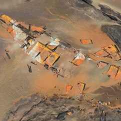 Desrt Shipwreck - Deserts of Kharak - Concept Art