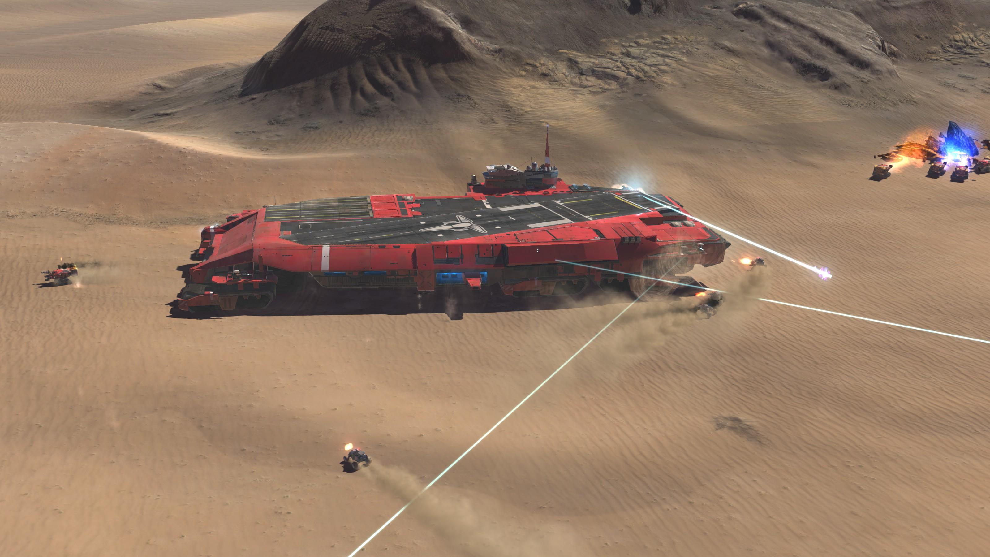 Deserts of Kharak Soban Fleet Pack - Carrier Railgun - Fists of Heaven