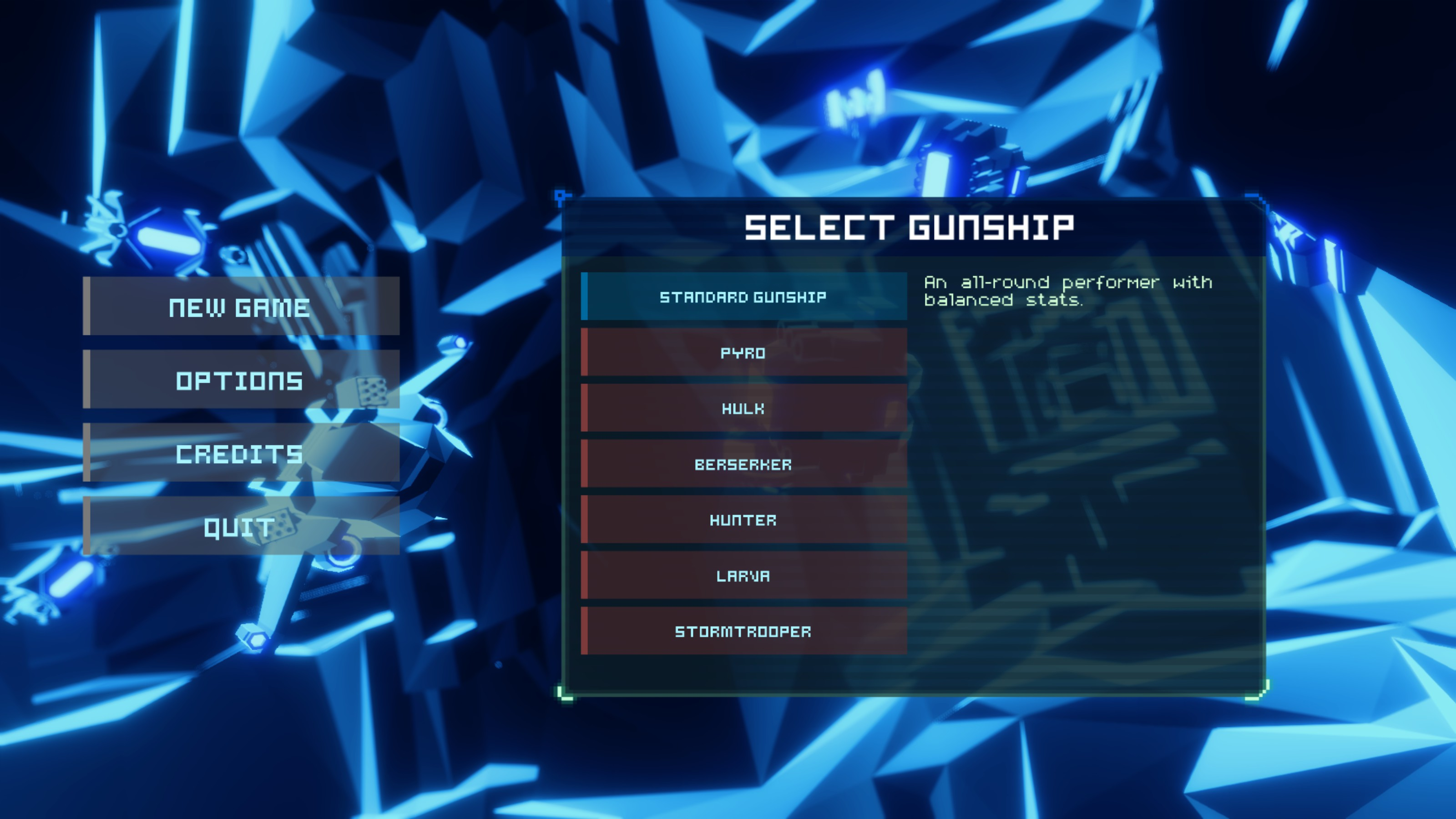 Sublevel Zero Screenshot - Ship Selection - Fists of Heaven