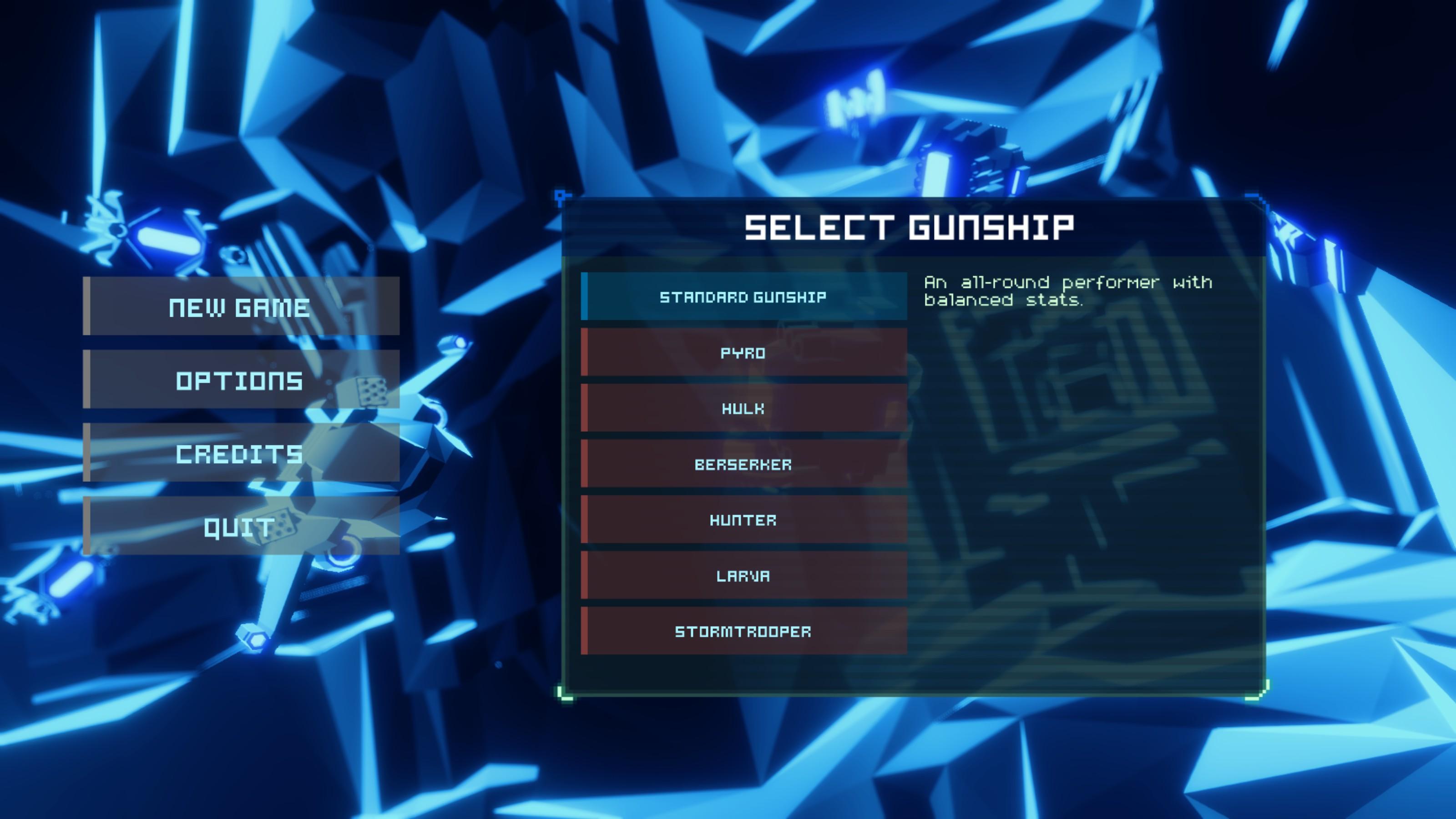 Sublevel Zero Screenshot - Ship Selection - Fists of Heaven