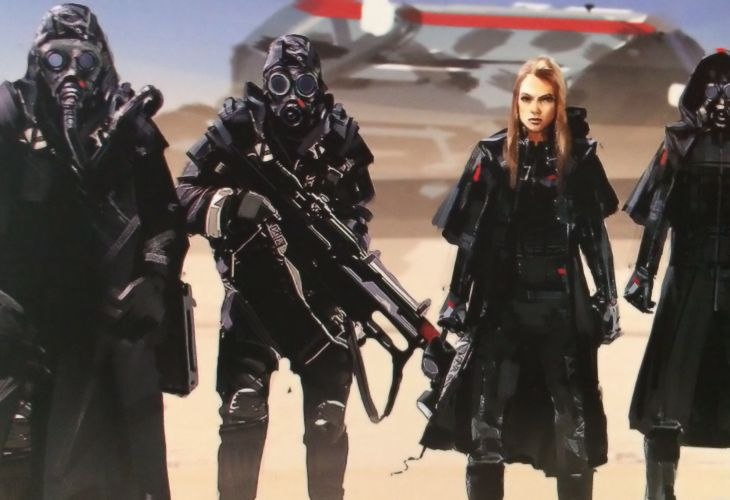 Homeworld Deserts of Kharak Collector's Edition Concept Art - Gaalsien Desert Troops Post Cover 2