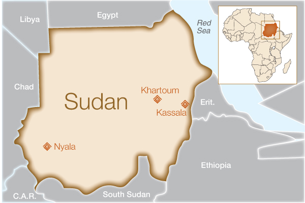 Fistula Foundation: Sudan - Map
