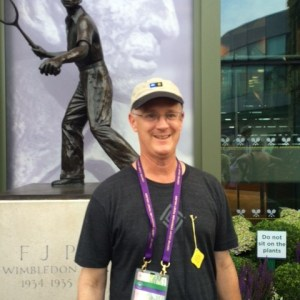 Supporter Roger Hamilton sported his diamond logo tee at Wimbledon!