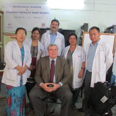 Steve visiting Kathmandu Model Hospital