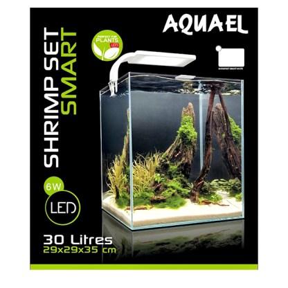 Aquael nanoakvaario 30 litraa valkoinen