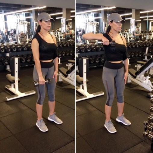 Dumbbell One Arm Upright Row -Toning Arms