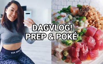 dagvlog pokebowl studie mini meal prep