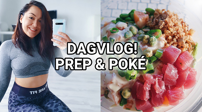 dagvlog pokebowl studie mini meal prep
