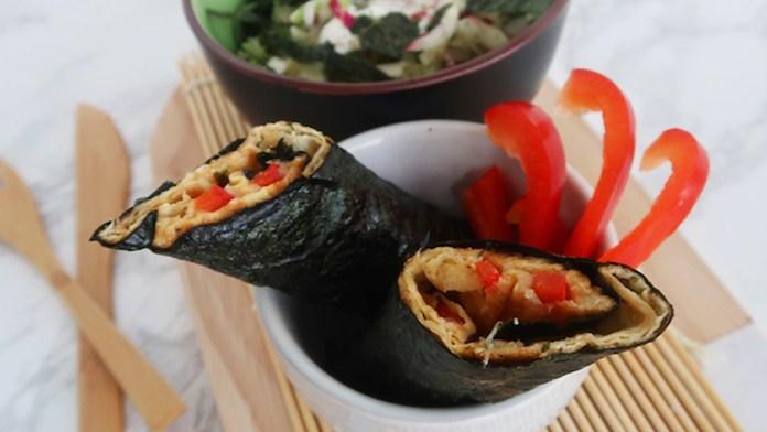 sushi omelet wraps