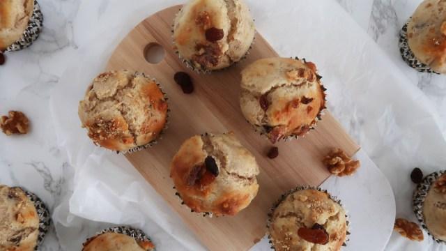 walnoot rozijnen muffins