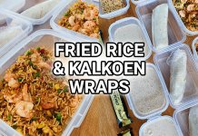 fried rice met garnalen