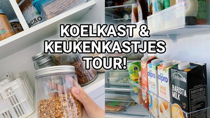 koelkast en keukenkastjes