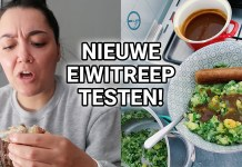 nieuwe eiwitreep testen