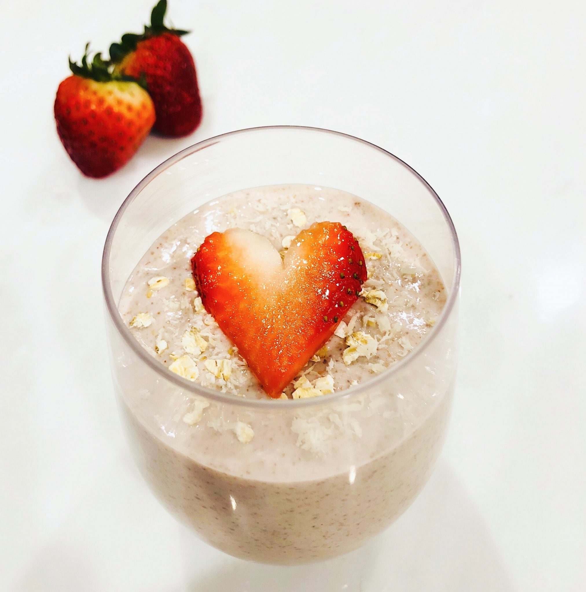 Strawberry Chia Oatmeal Pudding