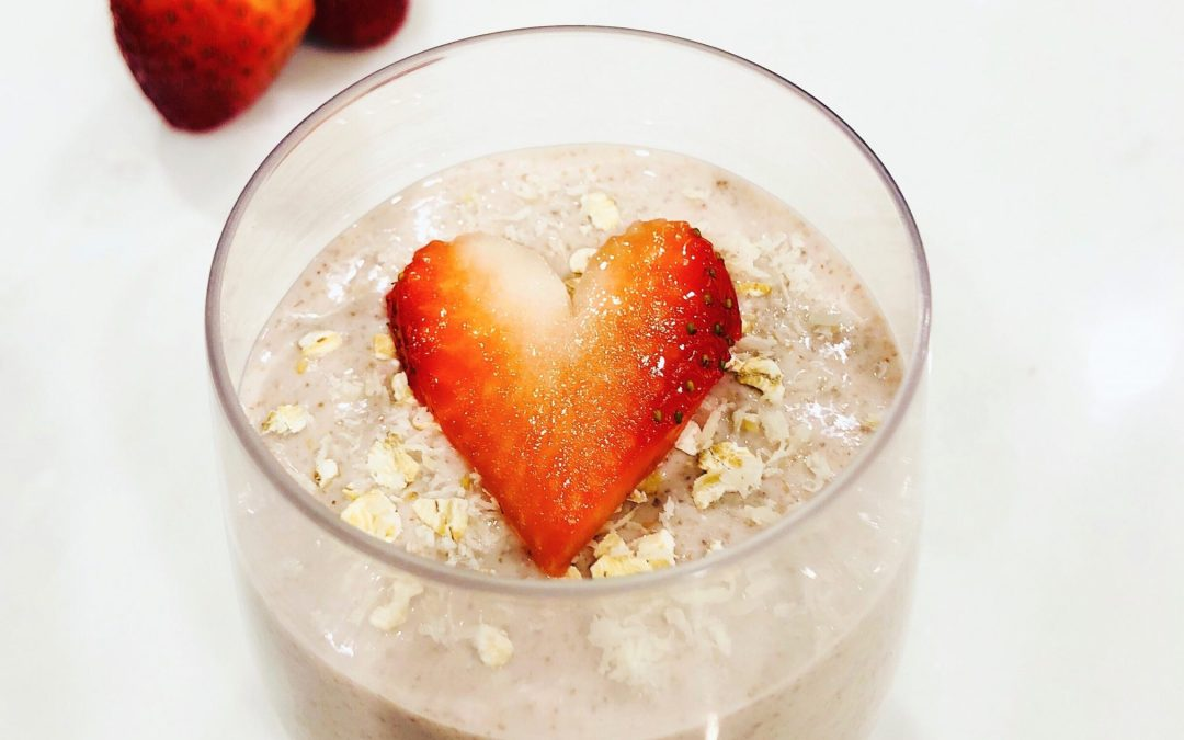 Strawberry Chia Oatmeal Pudding
