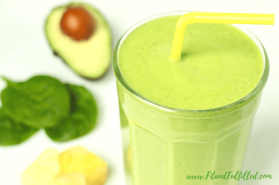 Anti-inflammatory Smoothie: pineapple green smoothie