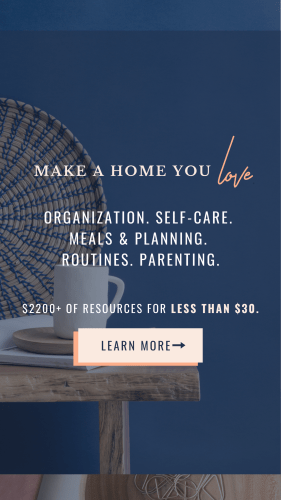Ultimate Homemaking Bundle make a home you love. Organization, self-care, meals and planning, routines, parenting. 98% off for 6 days only