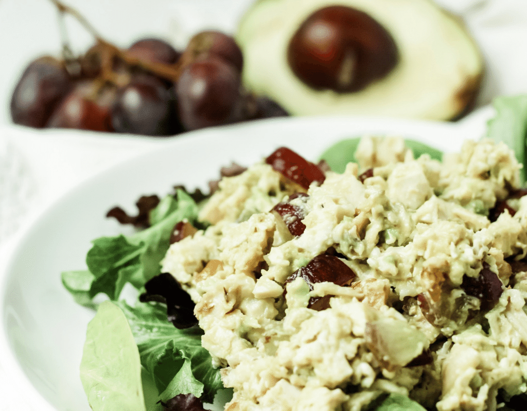 avocado chicken salad featured image