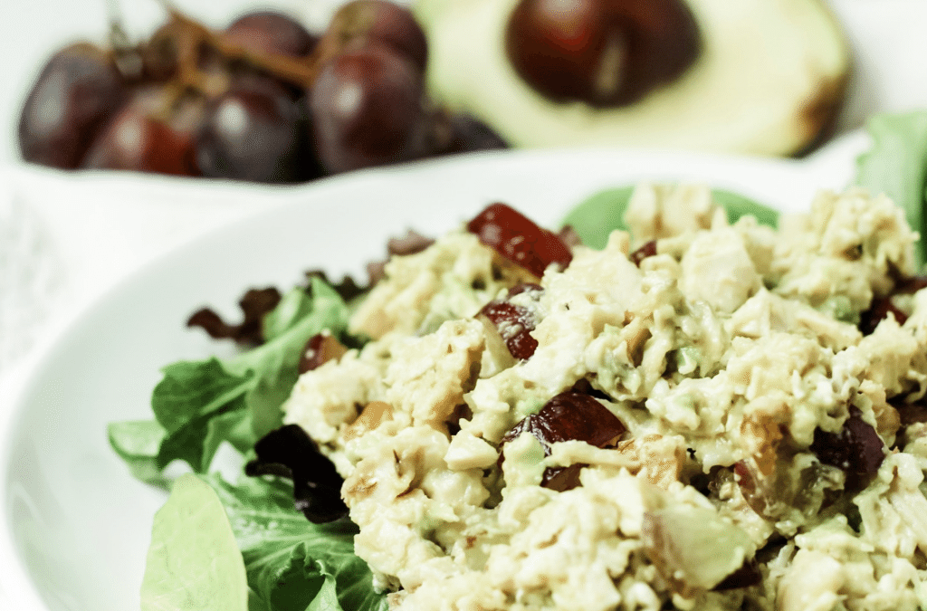 Avocado Chicken Salad: a healthy no-mayo recipe
